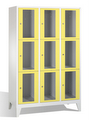 Fächerschrank 8010A323, Stahltüren mit Sichtfenstern 9 Fächer, Abteilbreite 400mm, auf Füßen | günstig bestellen bei assistYourwork