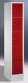 Fächerschrank 8000-105, mit Sockel 5 Fächer übereinander, Abteilbreite 300mm,   günstig bestellen bei assistYourwork