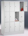 Select Schließfachschrank 1-101003, mit Sockel 4x3 Fächer, Abteilbreite 300mm,   günstig bestellen bei assistYourwork