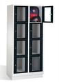 Select Fächerspind 1-101615, mit Sichtfenstern 8 Fächer, Abteilbreite 400mm, auf Sockel | günstig bestellen bei assistYourwork