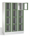 Select Sichtfensterschrank 1-101616, 12 Fächer, Abteilbreite 400mm, auf Sockel | günstig bestellen bei assistYourwork