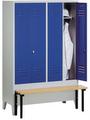 Garderobenspind 8032-20 mit vorgebauter Sitzbank, 2 Abteile für 1 Person, Abteilbreite 300mm | günstig bestellen bei assistYourwork