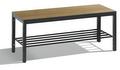 Sitzbank Basic Plus 8060-010, Breite 1000 mm, HxT 401x353 mm, Feuchtraumausführung | günstig bestellen bei assistYourwork