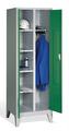 Wäsche--Garderobenspind 8060-22 auf Füßen 2 Abteile mit zueinanderschlagenden Türen | günstig bestellen bei assistYourwork