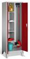 Raumpflegeschrank 8110-00 auf Füßen, 2 Abteile, HxBxT 1850x610x500mm | günstig bestellen bei assistYourwork