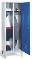 Kleiderspind 8210-20, mit einer Tür über 2 Abteile Abteilbreite 2x300mm | günstig bestellen bei assistYourwork