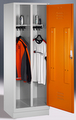 Spindschrank 8220-20, mit einer Tür über 2 Abteile Abteilbreite 2x300mm, mit Sockel | günstig bestellen bei assistYourwork