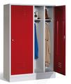 Kleiderspind 8220-40 mit Sockel, für 2 Personen 4 Abteile mit je einer Tür über 2 Abteile | günstig bestellen bei assistYourwork