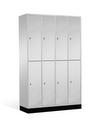 Intro Schließfachschrank 8270-401 8 Fächer, HxBxT 1950x1220x480-500mm | günstig bestellen bei assistYourwork