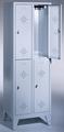 Spind 8310-10, doppelstöckig, mit Füßen 1x2 Abteile übereinander, Abteilbreite 300mm | günstig bestellen bei assistYourwork