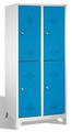 Kleiderspind 8310-22, doppelstöckig, mit Füßen 2x2 Abteile übereinander, Abteilbreite 400mm | günstig bestellen bei assistYourwork