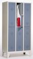 Fächerschrank 8310-30, doppelstöckig, mit Füßen 3x2 Abteile übereinander, Abteilbreite 300mm | günstig bestellen bei assistYourwork