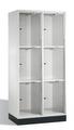 Intro Großraum-Schließfachschrank 8370A202 Acrylglastüren, 6 Fächer, 1750mm hoch | günstig bestellen bei assistYourwork