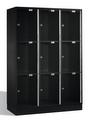 Intro Großraum-Schließfachschrank 8370A302 Acrylglastüren, 9 Fächer, 1750mm hoch | günstig bestellen bei assistYourwork