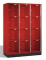 Intro Großraum-Schließfachschrank 8470A302 Acrylglastüren, 12 Fächer, 1750mm hoch | günstig bestellen bei assistYourwork