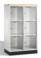 Intro Großraum-Schließfachschrank 8573A202 Acrylglastüren und DBS-Abdeckplatte | günstig bestellen bei assistYourwork