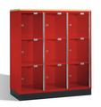 Intro Großraum-Schließfachschrank 8573A302 Acrylglastüren und DBS-Abdeckplatte | günstig bestellen bei assistYourwork