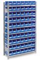 Fachbodenregal mit 60 Sichtlagerkästen, BxTxH 1000x300x1750mm | günstig bestellen bei assistYourwork