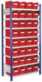Steckregal Modell 12 5201.01.1408 Grundfeld HxB 2000x1000 mm, 32 Lagersichtkästen | günstig bestellen bei assistYourwork