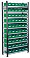 Steckregal Modell 10 5201.01.2108 Grundfeld HxB 2000x1000 mm, 60 Lagersichtkästen | günstig bestellen bei assistYourwork