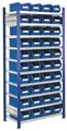 Steckregal Modell 13 5201.01.2208 Grundfeld HxB 2000x1000 mm, 40 Lagersichtkästen | günstig bestellen bei assistYourwork