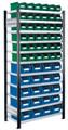 Steckregal Modell 14 5201.01.2608 Grundfeld HxB 2000x1000 mm, 56 Lagersichtkästen | günstig bestellen bei assistYourwork