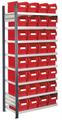 Steckregal Modell 12 5203.01.1408 Anbaufeld HxB 2000x1000 mm, 32 Lagersichtkästen | günstig bestellen bei assistYourwork