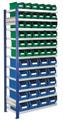 Steckregal Modell 14 5203.01.2608 Anbaufeld HxB 2000x1000 mm, 56 Lagersichtkästen | günstig bestellen bei assistYourwork