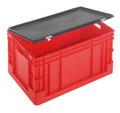 KAPPES Euro-Transportbehälter Verschlussdeckel mit Scharnier 400 x 600 mm   günstig bestellen bei assistYourwork