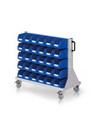 RasterMobil® Rollwagen Größe 2 - einseitig H x B x T 890 x 1000 x 500 mm, Modell E63 | günstig bestellen bei assistYourwork
