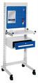 ErgoPlus® Steharbeitsplatz Modell 1, schmales Gestell, mit Lenkrollen | günstig bestellen bei assistYourwork