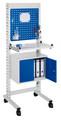 ErgoPlus® Steharbeitsplatz Modell 3, schmales Gestell, mit Lenkrollen | günstig bestellen bei assistYourwork