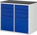 Schubladenschrank A3-LL7.2.2I-M, 4x120, 2x150, 2x540 Tür, Tragkraft 100 kg | günstig bestellen bei assistYourwork