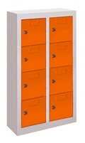 Mehr Details und Kaufen von Kleinfachschrank mit 8 Fächern wandhängend, HxBxT: 820x460x200 mm | günstig bestellen bei assistYourwork