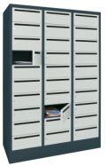Postverteilerschrank mit 30 Fächern 1850x930x500mm, mit Briefschlitz | günstig bestellen bei assistYourwork