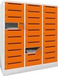 Postverteilerschrank 30 extra breite Fächer 1850x1230x500mm, mit Briefschlitz | günstig bestellen bei assistYourwork