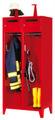 Feuerwehrschrank mit 2 Abteilen á 400 mm 2100x830x500mm, mit Schließfach und Einwurfschlitz | günstig bestellen bei assistYourwork