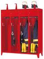 Feuerwehrschrank mit 4 Abteilen á 400 mm 2100x1630x500mm, Schließfach mit Etikettenrahmen | günstig bestellen bei assistYourwork