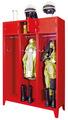 Feuerwehrschrank mit 2 Abteilen á 400 mm 2100x830x500mm, Schließfach mit Etikettenrahmen | günstig bestellen bei assistYourwork
