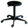 ESD- Drehhocker, PU-Sitz schwarz, 380-520mm, mit Gleitern | günstig bestellen bei assistYourwork