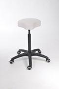 Drehhocker mit Sitzschale aus Kunstleder mit Kunststoff-Fußkreuz | günstig bestellen bei assistYourwork