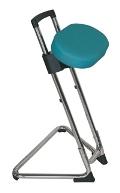 Stehhilfe mit Kunstledersitz Gestell verchromt | günstig bestellen bei assistYourwork