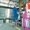 Modulares Arbeitspodest Grundmodul B 40260, 2-stufig, Modell AMA P | günstig bestellen bei assistYourwork