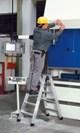 Zarges Stufen-Stehleiter 40353, 2 x 3 Stufen, Modell  Seventec B | günstig bestellen bei assistYourwork