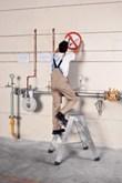 Genietetes Arbeitspodest 40372, 2 x 2 Stufen, klappbar, Modell Seventec BP | günstig bestellen bei assistYourwork