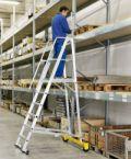 Fahrbare Podestleiter 41201, klappbar, 4 Stufen, Modell ZAP Safemaster Plus S | günstig bestellen bei assistYourwork