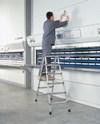 genietete Stufen-Stehleiter 41663, 2 x 3 Stufen, beidseitig begehbar, Z 500 | günstig bestellen bei assistYourwork