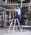 gebördelte Stufen-Stehleiter 41583 2 x 3 Stufen, beidseitig begehbar, Z 500 | günstig bestellen bei assistYourwork