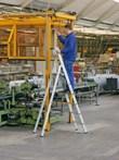 gebördelte Stufen-Stehleiter 41593, Z 500, 3 Stufen, einseitig | günstig bestellen bei assistYourwork