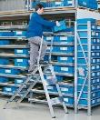 Sicherheitstreppe 41673 klappbar, 3 Stufen, ohne Bügel, Modell Plazatec P | günstig bestellen bei assistYourwork